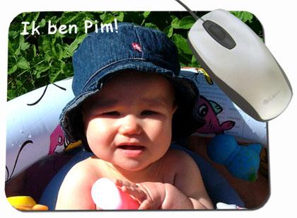 Muismat met foto van de baby