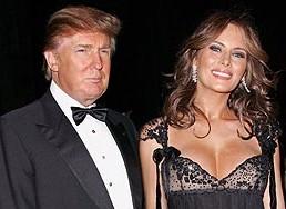 Donald Trump en Melania Knauss