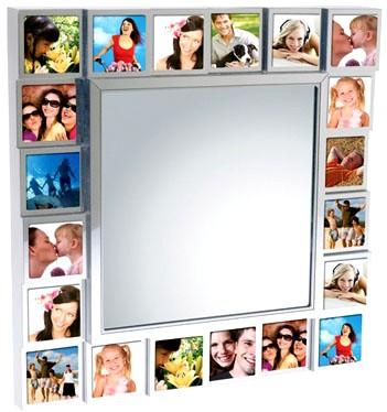 Spiegel fotolijst met de mensen waarvan je afscheid hebt genomen