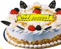 'Veel succes' taart